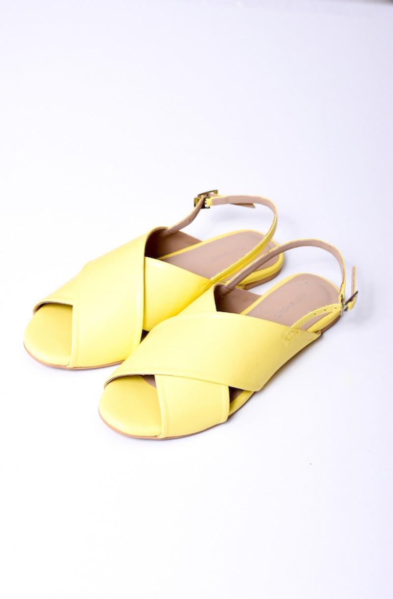 Yellow Crossover Sandal