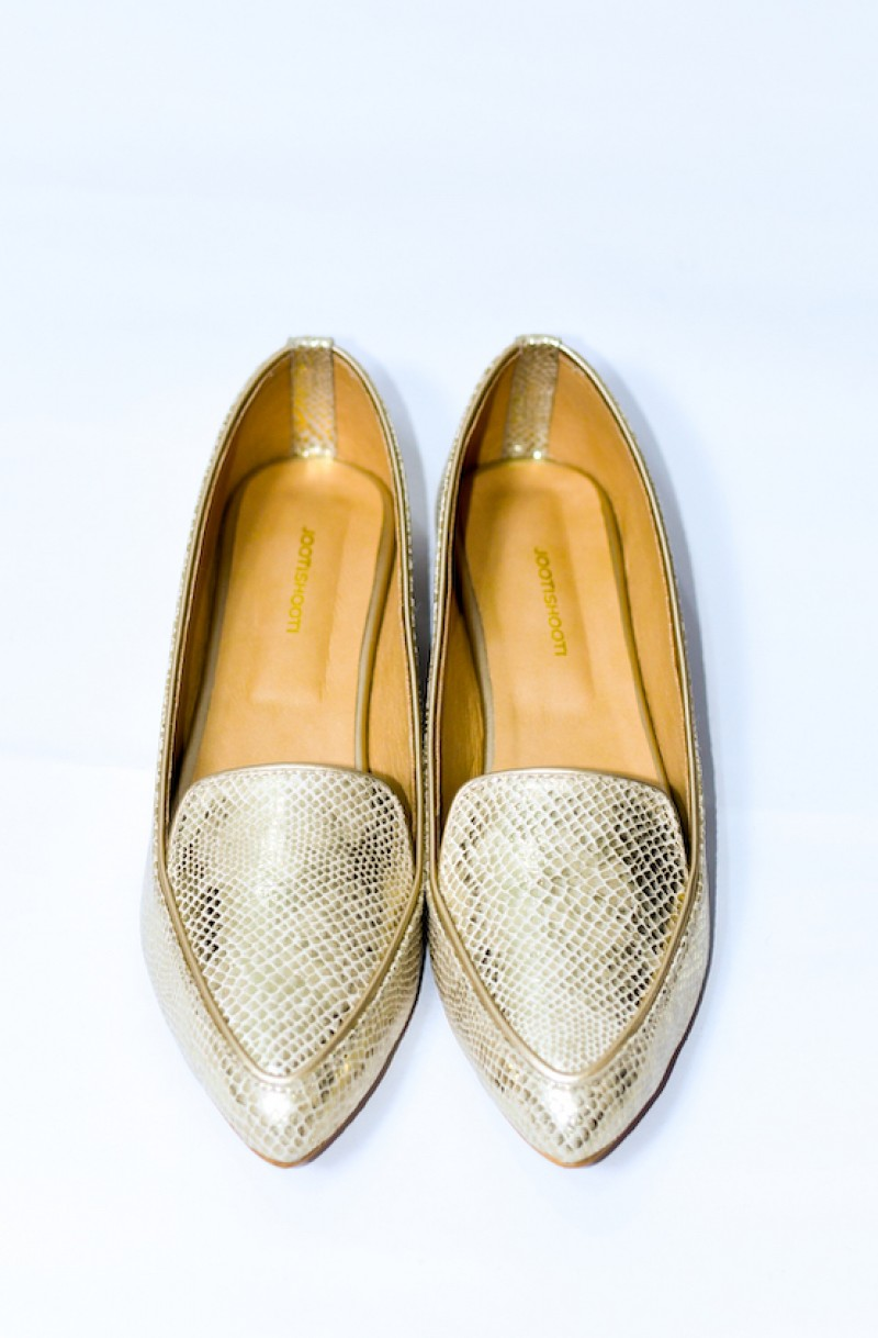 Gold Cambell Pointed Pumps (Limited Edition)