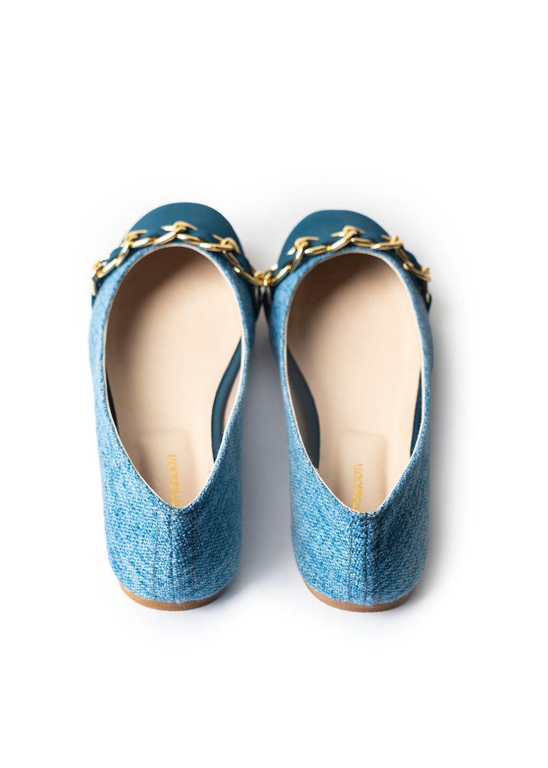 Breezy Blu  Ballet Flats