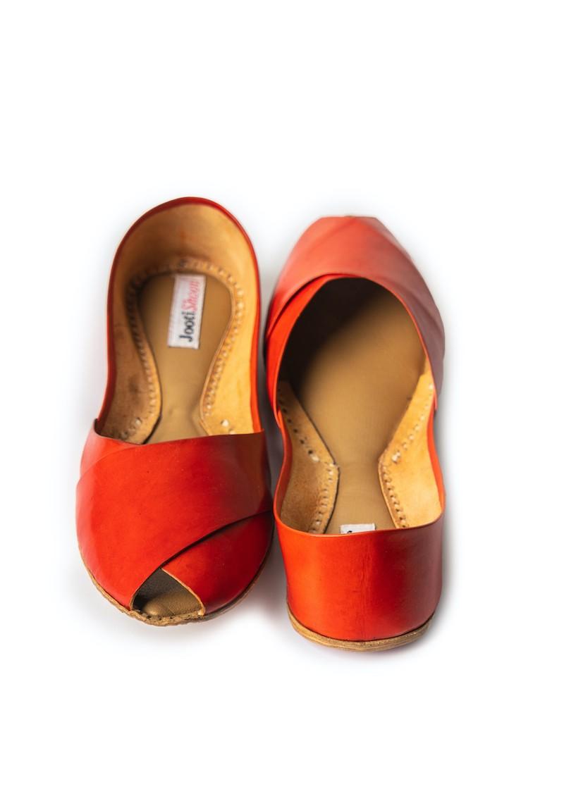 Orange Peep Toe
