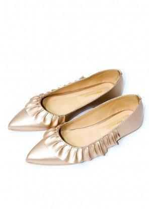 Frilly Rose Gold Pumps (Limited Edition)