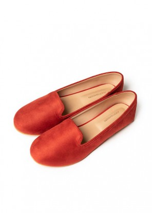 Coral loafers