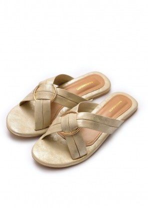 Fiona White Gold Slides (Limited Edition)