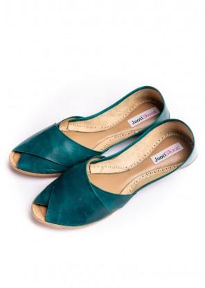 Sea green Peep toe