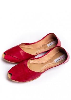 Red Peep toe