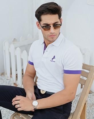 White Contrast Polo Shirt