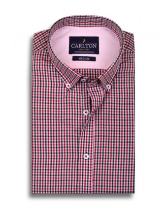 Multi Color Gun Club Check Shirt - Red