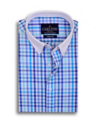Multicolor Gun Club Check Shirt Design – Blue