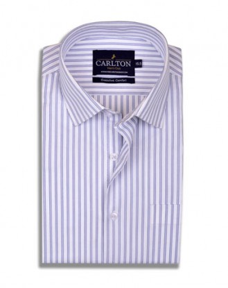 Blue Triple Stripes Shirt for Men