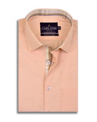 Plain Peach Shirt Design with Contrast